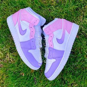 Custom ombré pink / purple Nike air Jordan
